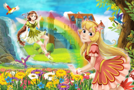 Детские фотообои волшебные феи (children-0000375)