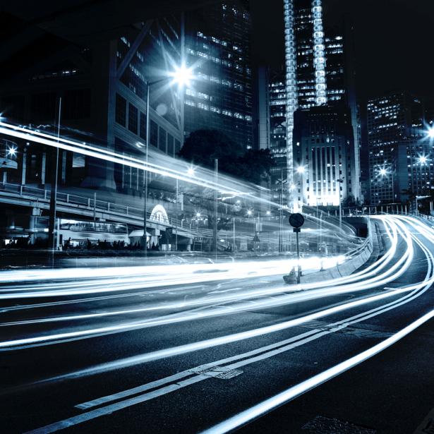 Фотообои ночной город дорога (city-0000455)
