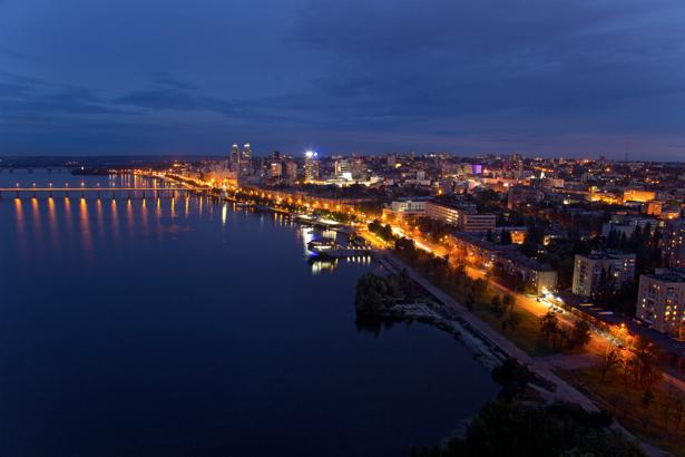 Фотообои ночной Днепр (city-0000931)