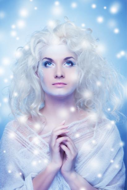 Фотообои девушка зимняя снежная (glamour-0000144)
