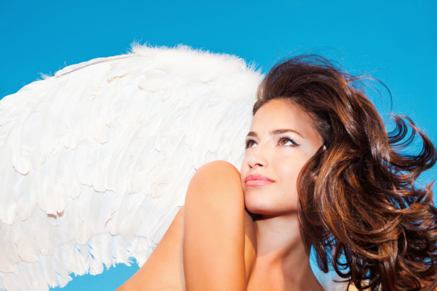 Фотообои девушка ангел с крыльями (glamour-0000288)