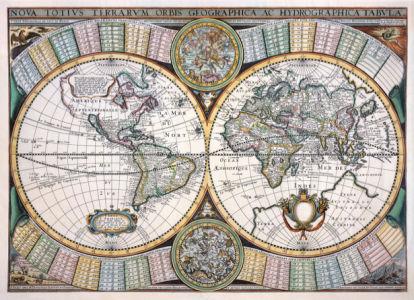 атлас, география, карты, старая карта (map-0000086)