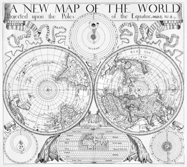 атлас, география, карты, старая карта (map-0000125)