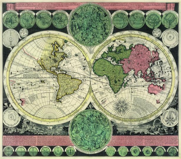 атлас, география, карты, старая карта (map-0000134)