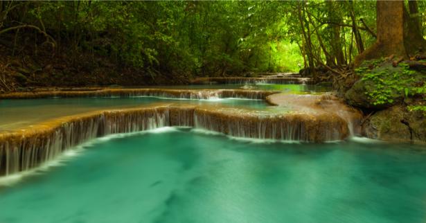Фотообои водопад каскады лес (nature-0000723)