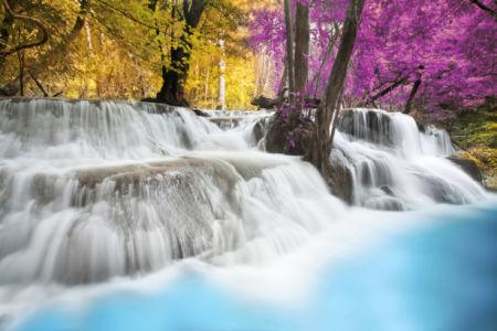 Фотообои водопад лес озеро фото (nature-0000844)