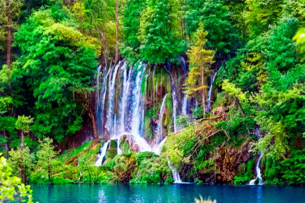 Фотообои горный водопад река (nature-00123)