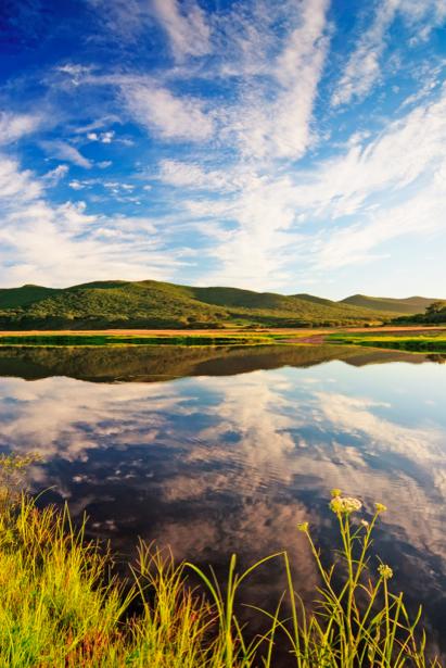 Фотообои виды на реку горы (nature-00206)