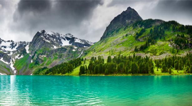 Фотообои красивое озеро и горы (nature-00420)