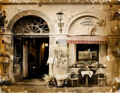 Фотообои Итальянское кафе винтаж (retro-vintage-0000377)