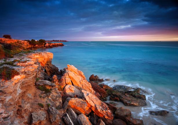 Фотообои красные скалы на закате (sea-0000223)