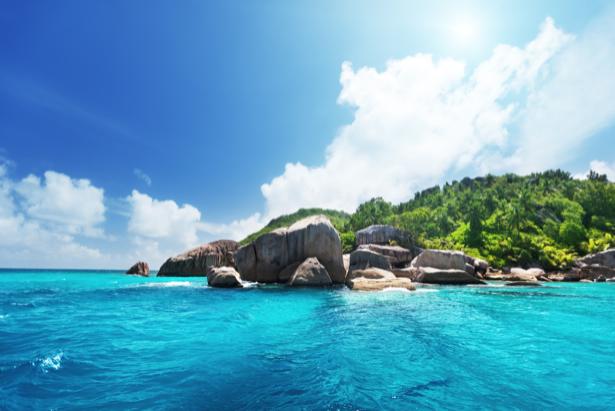 Фотообои экзотический пейзаж с морем (sea-0000250)