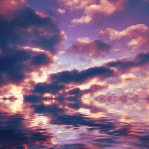 Фотообои вечернее небо фиолет (sky-0000086)