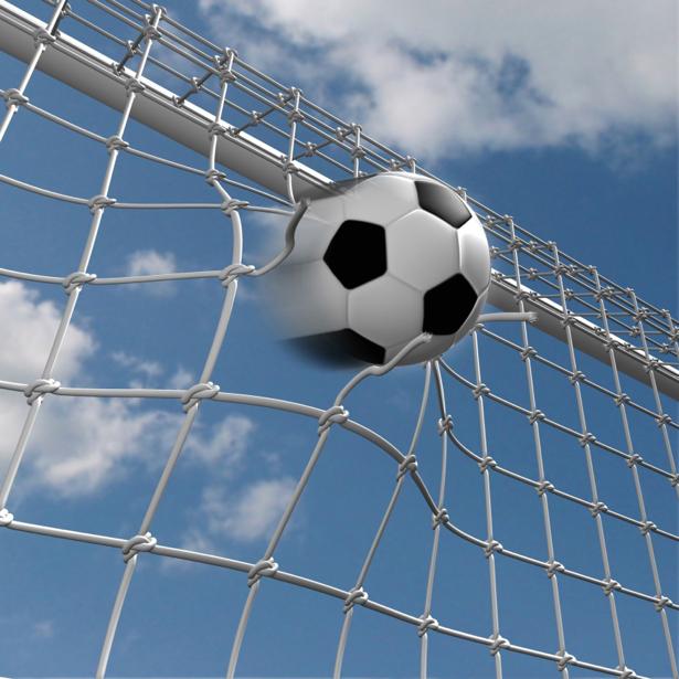 Фотообои мяч ворота футбол (sport-0000021)