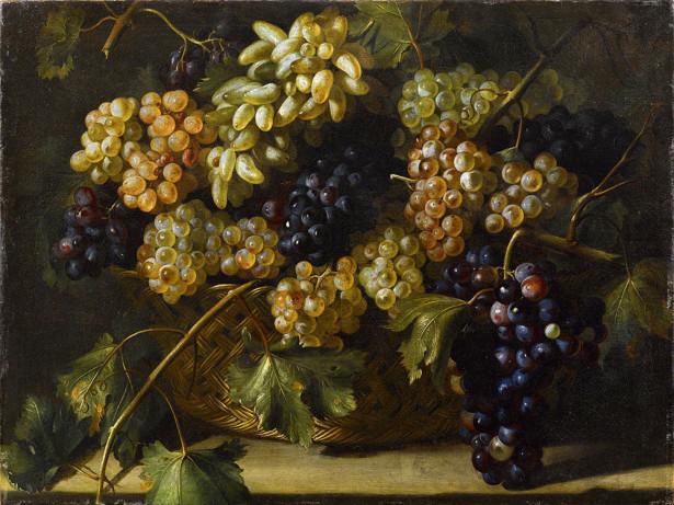 Фотообои Корзина из винограда (still-life-0093)