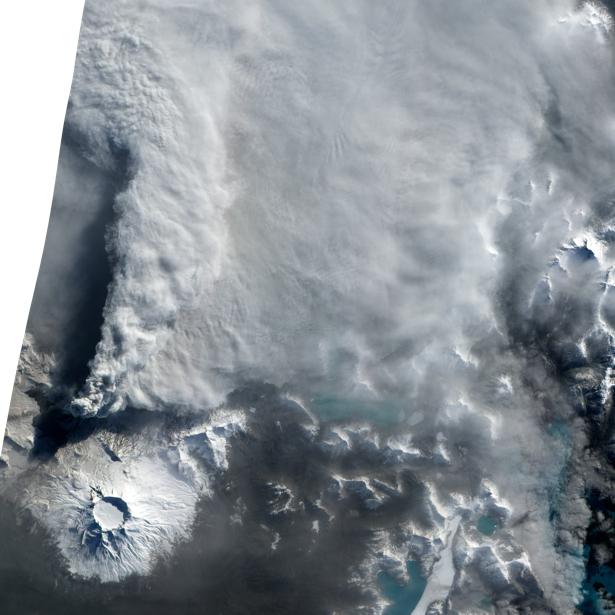 Фотообои 3д лед снег облака (terra-00054)