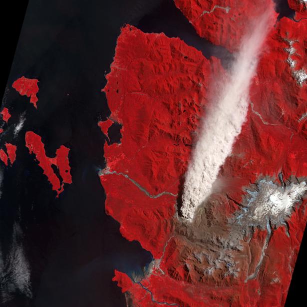Фотообои фото NASA вулкан (terra-00108)