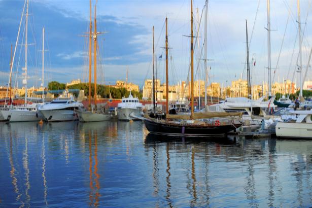 Фотообои с пристанью и яхтами (transport-0000152)