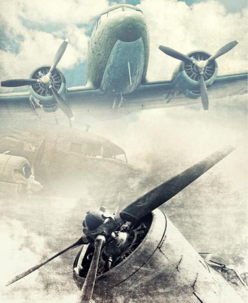 Фотообои самолеты ретро (transport-0000246)