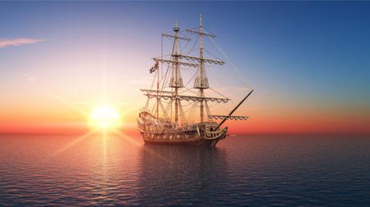 Фотообои древний корабль (transport-0000257)