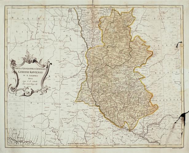 Карта Левобережной Украины (Гетманщины) 1775 г (ukraine-0046)