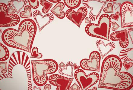 Скатерть Декоративные сердечки (0183)