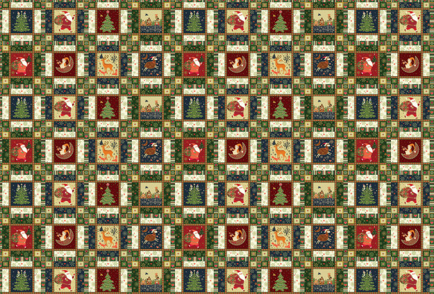Скатерть Новогодняя мозаика (202)