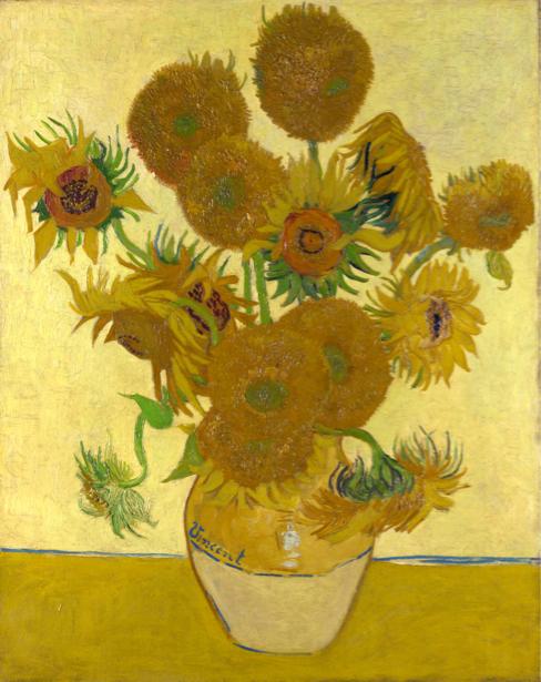 Обои Живопись цветы -  Подсолнухи (art-0000258)