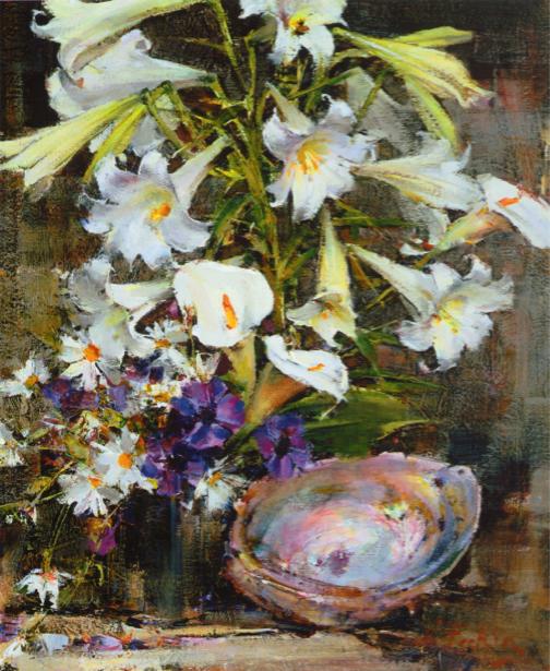 Обои для стен фото Натюморт с цветами (art-0000317)