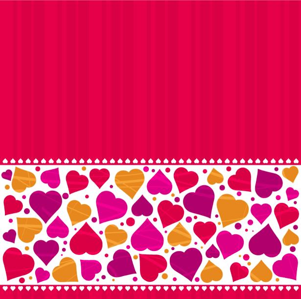Фотообои фон из сердечек (background-0000379)