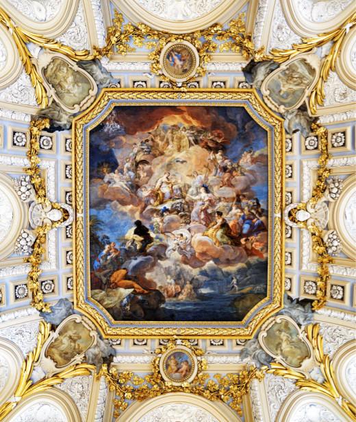 Фотообои на потолок дворцовые (ceiling-21)