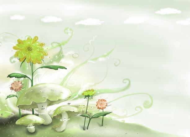 Детские фотообои - грибы (children-0000334)
