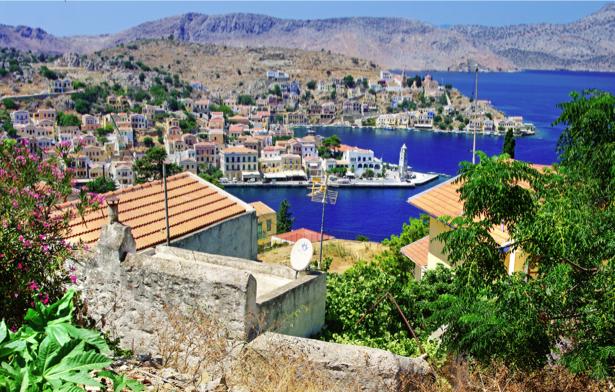 Фотообои Греция набережная (city-0001193)