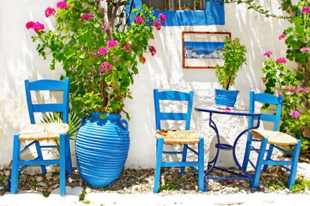 Фотообои греческий домик (city-0001229)