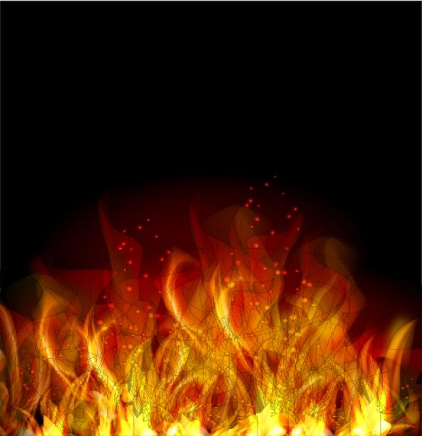 Фотообои горящий очаг (fantasy-0000101)