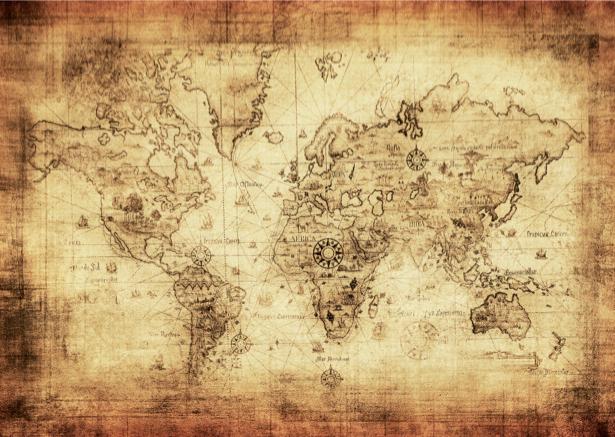 Фотообои винтажная карта (map-0000176)