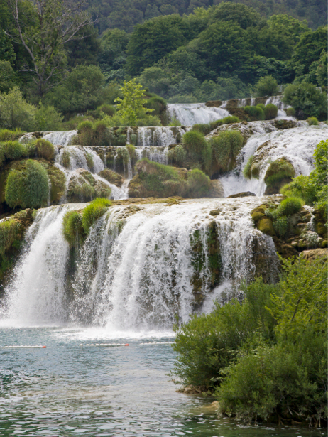 Фотообои природа горный водопад камни (nature-00380)