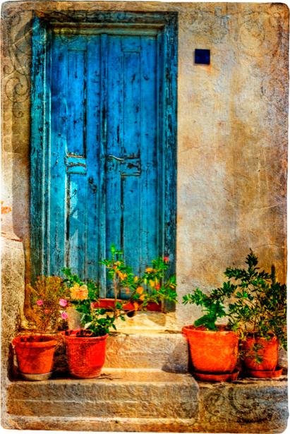 Фотообои дворик итальянский (retro-vintage-0000096)