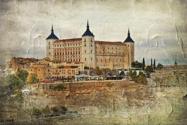 Фотообои город замок (retro-vintage-0000177)