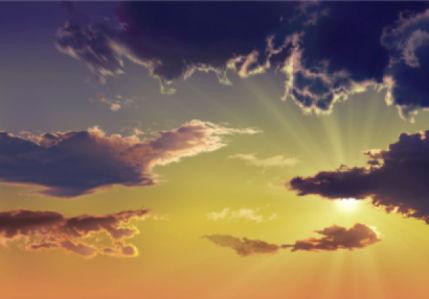 Фотообои лучи солнца вечернее небо (sky-0000125)