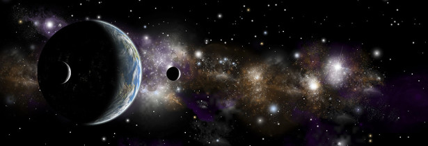 Фотообои Планеты в космической туманности (space-94)