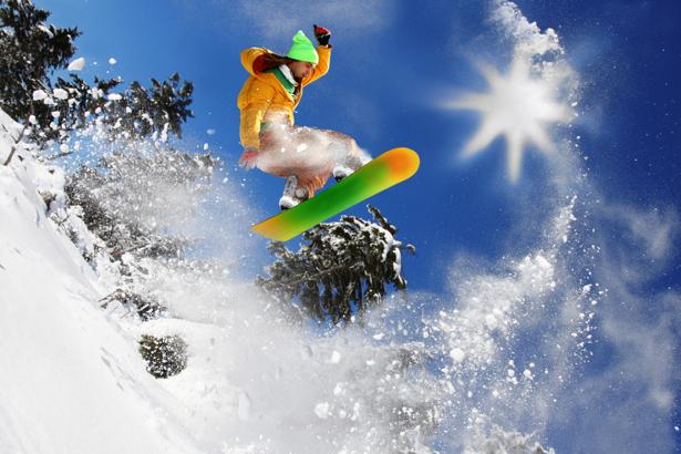 Фотообои сноубордист прыжок (sport-0000009)