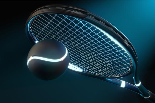 Фотообои теннисная ракетка неон (sport-0000146)