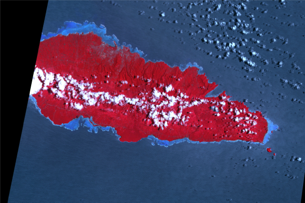 Фотообои на стену красное и синее (terra-00223)