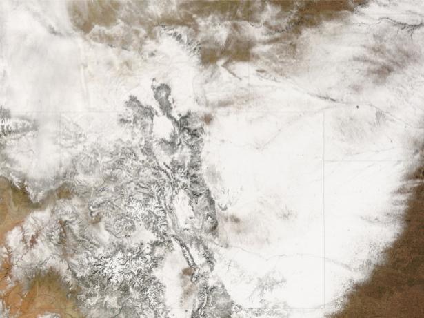 Фотообои NASA облачно (terra-00273)