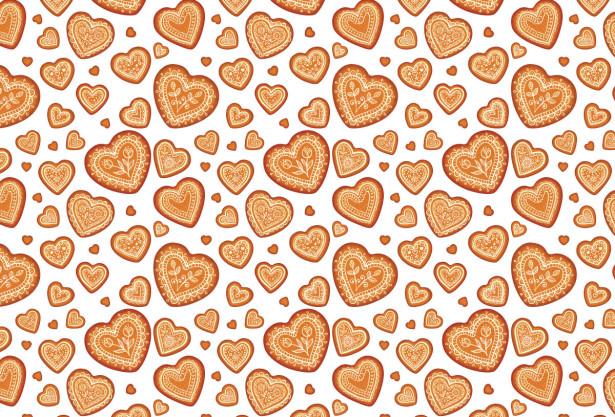 Скатерть Пряничные сердечки (0186)