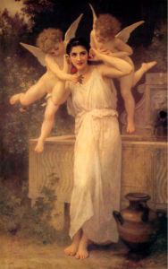 Обои ангелы любовные ангелочки (angel-00004)
