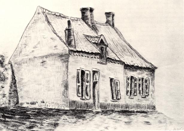 Ван Гог дом, графика (art-0000155)