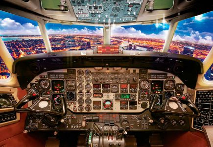 Фото обои кабина самолета (c410-2)