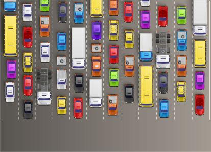 Фотообои машины на дороге (child-444)